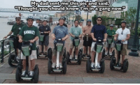 """Two years ago my dad texted me this photo and I posted it on Reddit. He sent it to me with the caption you see on that photo. The legend of my dad's gang traversed the internet and here it is again today on the daddiest of all days. So happy Father's Day to all the punny, funny, silly pops out there. fathersday (PS: that's my dad in the middle in the green shirt): My dad sent me this  pic and said  """"Thought you should knowim in a  gang now.  HAWAn Two years ago my dad texted me this photo and I posted it on Reddit. He sent it to me with the caption you see on that photo. The legend of my dad's gang traversed the internet and here it is again today on the daddiest of all days. So happy Father's Day to all the punny, funny, silly pops out there. fathersday (PS: that's my dad in the middle in the green shirt)"""