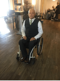 Dad, Halloween, and Professor X: My dad took advantage of being in a wheelchair and became Professor X for Halloween