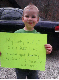 Memes, Good, and Help: My Dadd ad f  I get d000 Likes  He would t mo kin  or Good So Please like  mo Kin  and Share This sounds like a noble cause. Help this kid out.