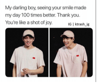 Anaconda, Thank You, and Smile: My darling boy, seeing your smile made  my day 100 times better. Thank you.  You're like a shot of joy.  IG | ktrash_ig #JUNGKOOK 🐾