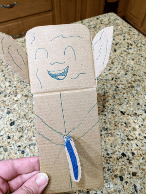 My daughter can't figure out why we can't stop laughing at the Yoda she made: My daughter can't figure out why we can't stop laughing at the Yoda she made