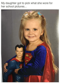 School Picture: My daughter got to pick what she wore for  her school pictures.