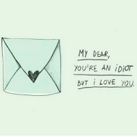 Love, I Love You, and Idiot: MY DEAR,  YOU'RE AN İDİOT  BUT İ LOVE YOU.