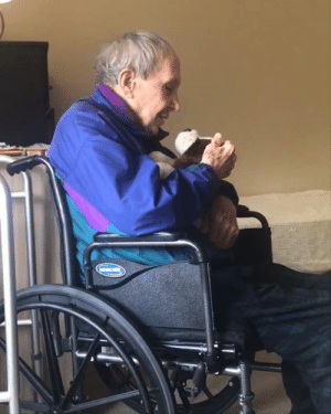 'My dog and I can't always visit my dad with dementia so I got him his own' 🐶: 'My dog and I can't always visit my dad with dementia so I got him his own' 🐶