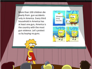 """My englisch teacher told me to create a """"poster"""" against weapons, so I sent her this!: My englisch teacher told me to create a """"poster"""" against weapons, so I sent her this!"""