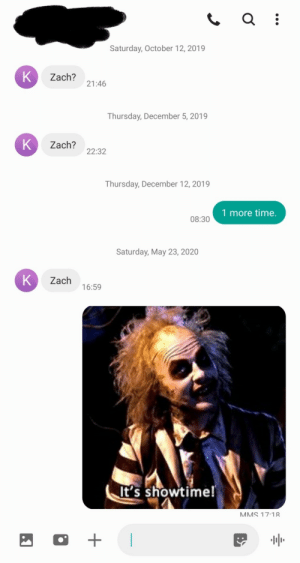 My ex I met on Tinder only messages me when she's super drunk and I've been waiting since October to finish this joke.: My ex I met on Tinder only messages me when she's super drunk and I've been waiting since October to finish this joke.