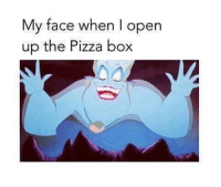 tag your friends pizza: My face when I open  up the Pizza box tag your friends pizza