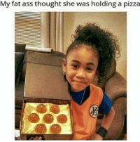 My fat ass thought she was holding a pizza Lmao via @animes