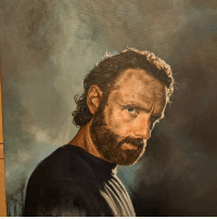 My Fiancee Painted Rick Grimes: My Fiancee Painted Rick Grimes