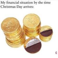 Christmas, Memes, and Time: My financial situation by the time  Christmas Day arrives: Sounds about right 😩 Follow @thepettybitch @thepettybitch @thepettybitch @thepettybitch