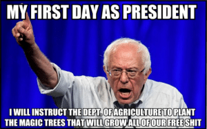 SAVAGE Political Memes 3 - Gallery | eBaum's World: MY FIRST DAY AS PRESIDENT  I WILL INSTRUCT THE DEPT OFAGRICULTURE TO PLANT  THE MAGIC TREES THAT WILL GROWALLOF OUR FREE SHIT SAVAGE Political Memes 3 - Gallery | eBaum's World
