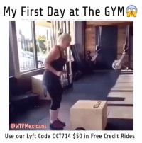 Gym, Memes, and Free: My First Day at The GYM  WTFMexicans  Use our Lyft Code OCT714 $50 in Free Credit Rides No pos ta cabron😂😂 Follow @wtfmexicans👈🏻😂 Shop at our store @wtfmexshop👈🏻👌🏻