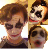 My first makeup test as (Heath Ledger) Joker, all I used was facepaint with eyeliner. warpaint makeup joker jokermakeup heathlegerjoker smile: My first makeup test as (Heath Ledger) Joker, all I used was facepaint with eyeliner. warpaint makeup joker jokermakeup heathlegerjoker smile