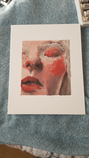 First, Done, and Finally: my first oil portrait finally done