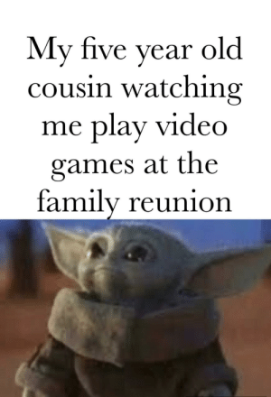 Can I play?: My five year  cousin watching  play video  old  me  games at the  family reunion Can I play?
