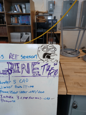 My FRC (robotics) team asked for a custom To-Do list. Changed Pre-Season to Ree season earlier in the year so I drew Pepe: My FRC (robotics) team asked for a custom To-Do list. Changed Pre-Season to Ree season earlier in the year so I drew Pepe