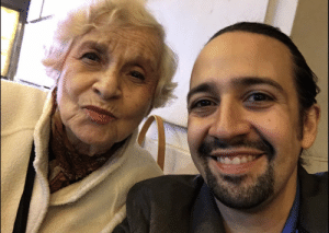 My friend Fran Eppy died peacefully in her sleep this weekend. If you saw Heights or Hamilton you met her. She was an usher at the Rodgers. & she was my surrogate abuela at the theater after my abuelas passed. (it's a miracle I even have this pic, she hated her picture taken) 1/2 https://t.co/lLEIdWh7Fz: My friend Fran Eppy died peacefully in her sleep this weekend. If you saw Heights or Hamilton you met her. She was an usher at the Rodgers. & she was my surrogate abuela at the theater after my abuelas passed. (it's a miracle I even have this pic, she hated her picture taken) 1/2 https://t.co/lLEIdWh7Fz