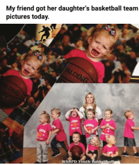 Basketball, Pictures, and Today: My friend got her daughter's basketball team  pictures today.   SRP  WSRPD Youth Basketball