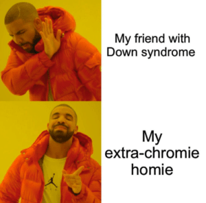 He's my bro! by BluePython101 MORE MEMES: My friend with  Down syndrome  My  |extra-chromie  homie He's my bro! by BluePython101 MORE MEMES