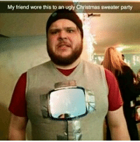🐺: My friend wore this to an ugly Christmas sweater party 🐺