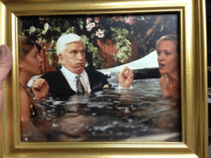 My friend works for a hot tub company, the CEO was friends with Leslie Nielsen: My friend works for a hot tub company, the CEO was friends with Leslie Nielsen