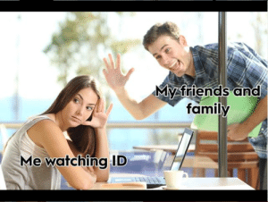 The entire investigation discovery instagram is full of r/fellowkids worthy content, but this... this is gold.: My friends and  family  Me watchingID The entire investigation discovery instagram is full of r/fellowkids worthy content, but this... this is gold.