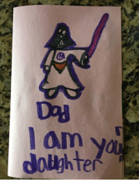 Birthday, Him, and Daughter: My friends daughter made him a birthday card.