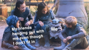 https://t.co/g0LXFZT6k0: My friends  hanging out with  me even though  I don't fit in  Me https://t.co/g0LXFZT6k0