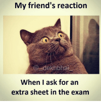 Shock laga laga 😂😂: My friend's reaction  When I ask for an  extra sheet in the exam Shock laga laga 😂😂