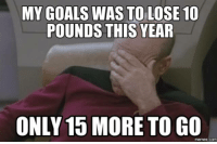 Today's a cheat day.: MY GOALS WAS TO LOSE 10  POUNDS THIS YEAR  ONLY 15 MORE TO GO  Memes COMI Today's a cheat day.