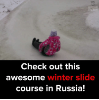 Some winter outdoor fun! #itsviral: MY GOD  FACTS!  Check out this  winter slide  awe Somme  course in Russia! Some winter outdoor fun! #itsviral