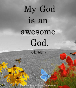 God, Memes, and Wings: My God  is an  awesome  God  Amen-  cam/DEugTreatment Wings of Encouragement