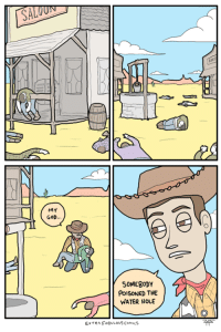 God, Memes, and Http: MY  GOD.  SOMEBODY  PoISONED THE  WATER HOLE  EXTRA FAULOUS ComicS v old http://extrafabulouscomics.com/originals/