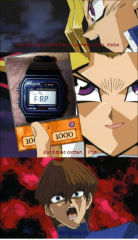 Nas, Water, and This: My Grandna's deck nas  Kaiba  CASIOF-9tw  LIGHTALARM  RL  F:AP  WATER  RESIST  1000  10  But it does contain.. This  IMPOSSIBLE https://t.co/8N0qTnQEZu