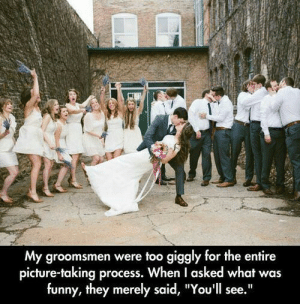 """#Hahaha (i.redd.it): My groomsmen were too giggly for the entire  picture-taking process. When I asked what was  funny, they merely said, """"You'll see."""" #Hahaha (i.redd.it)"""