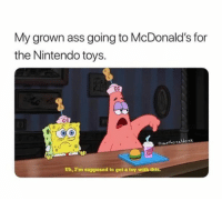 Ass, Love, and McDonalds: My grown ass going to McDonald's for  the Nintendo toys.  tswethereddere  Uh, I'm supposed to get a toy with thi I love when they have the Pokémon cards