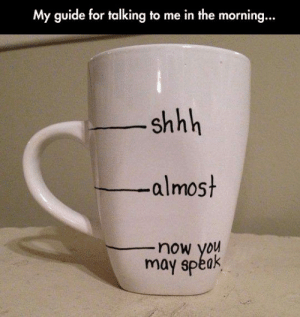 Tumblr, Blog, and Com: My guide for talking to me in the morning...  shhh  -almost  now you  may spéak awesomesthesia:  If You Want To Talk To Me In The Morning