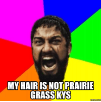 kys: MY HAIR  IS NOT PRAIRIE  GRASS KYS  Memes Com