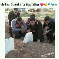 """Read his story below & swipe left This is the father of the 2 beautiful 9 month old twin children I posted up earlier who were killed in the sarin gas attack in Syria. Here he is burying his twins, his wife, and the rest of his family who were all killed. To donate to help send gas masks to Syria visit: www.GasMasks4Syria.com Or go to the link in my bio . Article from Associated Press: The father cradled his 9-month-old twins, Aya and Ahmed, each in an arm. He stroked their hair and choked back tears, mumbling, """"Say goodbye, baby, say goodbye"""" to their lifeless bodies. . Abdel Hameed Alyousef lost his two children, his wife and other relatives in the suspected chemical attack Tuesday in the northern Syrian town of Khan Sheikhoun that killed at least 72 people. In footage shared with The Associated Press, Alyousef sits in the front seat of a van with the twin, his eyes red as he asks his cousin Alaa to video his farewell to them. . When the airstrike took place, """"I was right beside them and I carried them outside the house with their mother,""""Alyousef, a 29-year-old shopowner, told the AP. """"They were conscious at first, but 10 minutes later we could smell the odor."""" The twins and his wife, Dalal Ahmed, fell sick. . He brought them to paramedics and, thinking they would be OK, went to look for the rest of his family. He found the bodies of two of his brothers, two nephews and a niece, as well as neighbors and friends. """"I couldn't save anyone, they're all dead now,"""" he said. Only later was he told his children and wife had died. . """"Abdel Hameed is in very bad shape,"""" his cousin Alaa said. He's being treated for exposure to the toxin. """"But he's especially broken down over his massive loss."""": My heart breaks for this father  Read his story below & swipe left This is the father of the 2 beautiful 9 month old twin children I posted up earlier who were killed in the sarin gas attack in Syria. Here he is burying his twins, his wife, and the rest of his family who were all kil"""