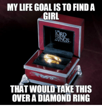 Life, Diamond, and Girl: MY LIFE GOAL IS TO FINDA  GIRL  ORD  THAT WOULD TAKE THIS  OVER A DIAMOND RING <p>For That Special Girl.</p>