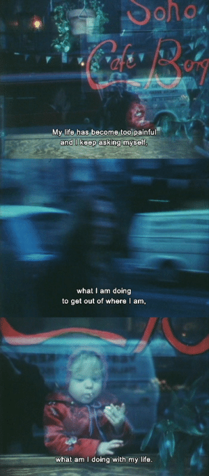 lostinpersona:   As I Was Moving Ahead Occasionally I Saw Brief Glimpses of Beauty, Jonas Mekas (2000)   : My life has become too painful   what I am doing  to get out of where I am   what am I doing with my life. lostinpersona:   As I Was Moving Ahead Occasionally I Saw Brief Glimpses of Beauty, Jonas Mekas (2000)