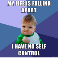 Life, Control, and Imgur: MY LIFE IS FALLING  APART  I HAVE NO SELF  CONTROL  made on imgur Im doing well. And you?