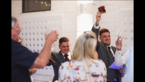 My little brother raising a toast at his friends wedding!: My little brother raising a toast at his friends wedding!