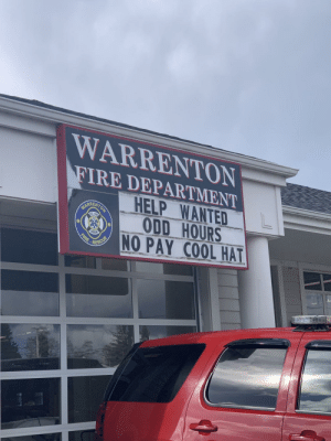 My local fire department makes a compelling offer: My local fire department makes a compelling offer