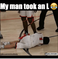This is an actual Ankle Breaker 😂😳 - Follow me @boldmixes for more! - Via: @breakanklesdaily & @ballervisions: My man took an L  WIBALLERVISIONS  @Break Ankles Daily This is an actual Ankle Breaker 😂😳 - Follow me @boldmixes for more! - Via: @breakanklesdaily & @ballervisions