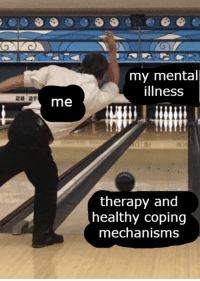 Coping Mechanisms: my mental  illness  28 29  me  therapy and  healthy coping  mechanisms