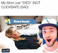 Sad, Irl, and Me IRL: My Mom just *DIED* (NOT  CLICKBAIT) (SAD)  Victory Royale!  22:35