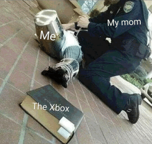 Meme, Xbox, and Mom: My mom  Me  The Xbox Is this an origibal meme template?
