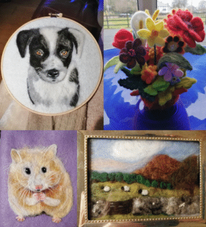 My mom recently started needlefelting, and as its Mother's Day in the UK, I wanted to share it!: My mom recently started needlefelting, and as its Mother's Day in the UK, I wanted to share it!