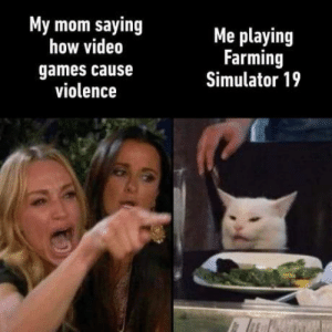 https://t.co/atjeH5uf5q: My mom saying  how video  Me playing  Farming  Simulator 19  games cause  violence https://t.co/atjeH5uf5q